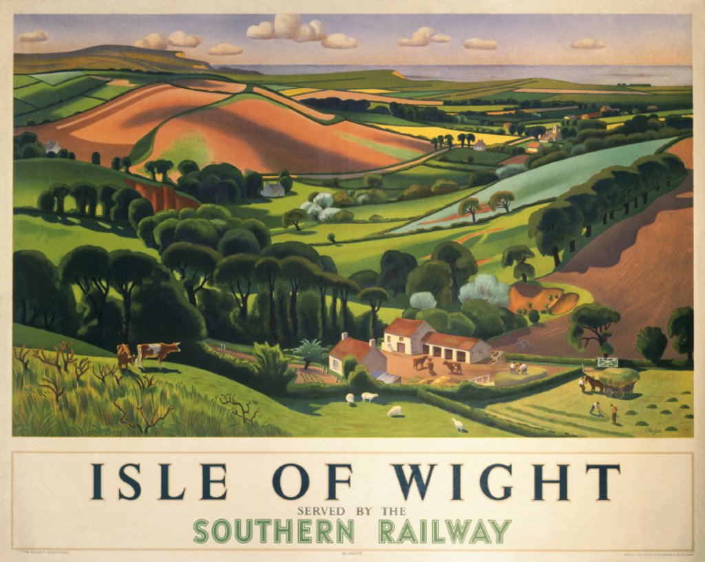 Stock Photo: 1895-1332 ´Isle of Wight',SR poster, 1946.