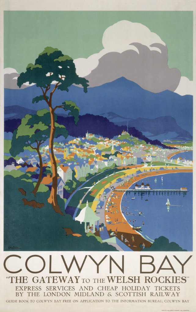 ´Colwyn Bay', LMS poster, c 1930s. : Stock Photo