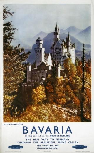 Stock Photo: 1895-1374 ´Bavaria', BR poster, c 1960s.