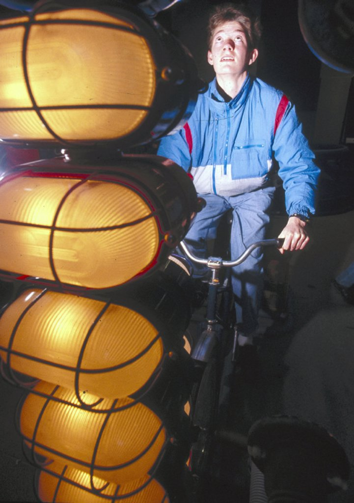 Pedal cycle interactive, c 1988. : Stock Photo