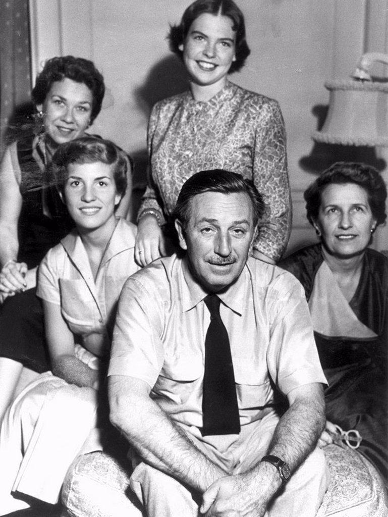 Walt Disney, American animator and showman, 7 July 1952. : Stock Photo