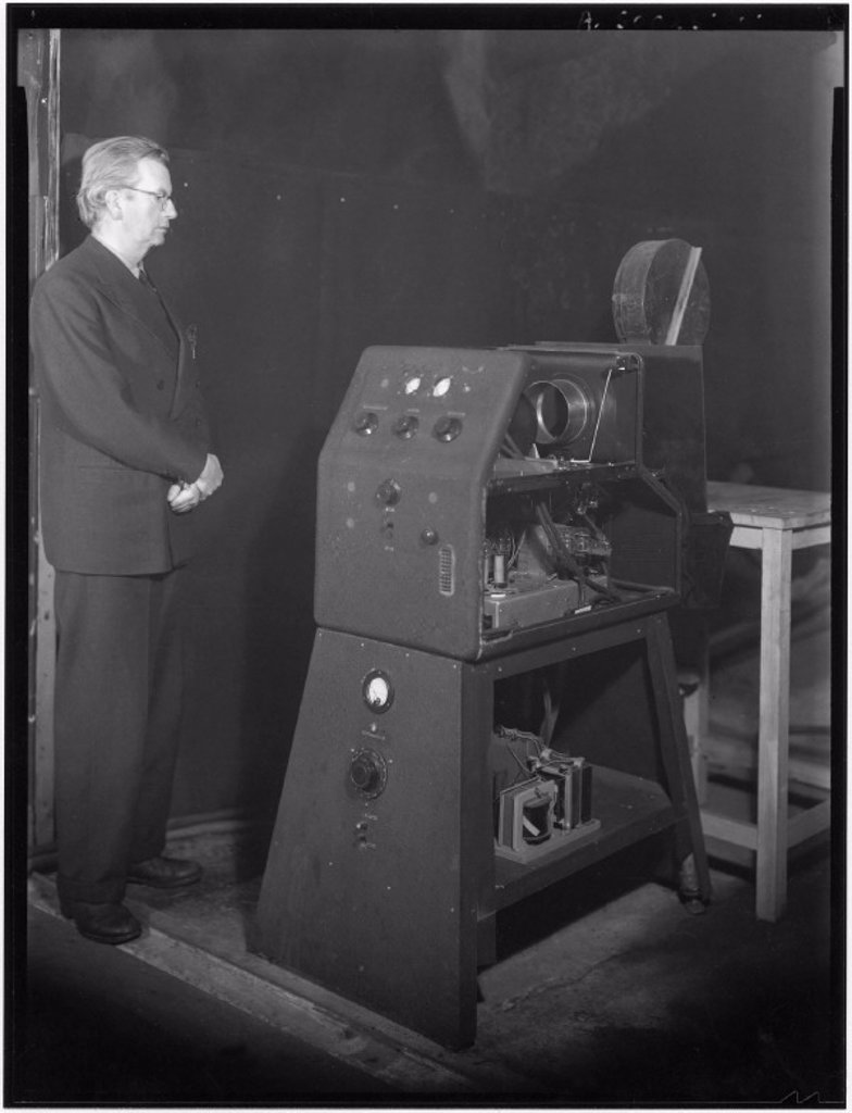 Stock Photo: 1895-14458 John Logie Baird, Scottish television pioneer, c 1942.