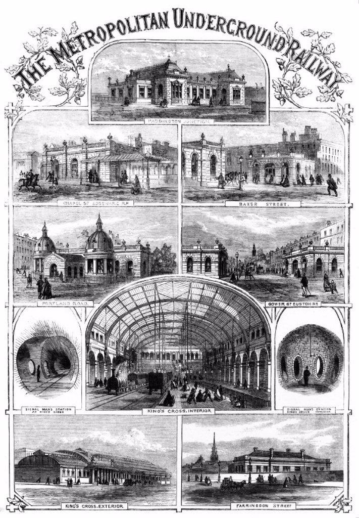 The Metropolitan Underground Railway, 1863. : Stock Photo