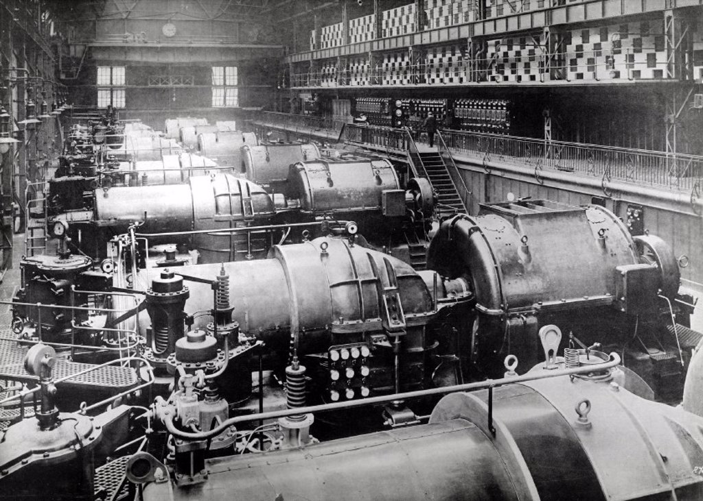 Carville Power Station, Newcastle, 1907. : Stock Photo