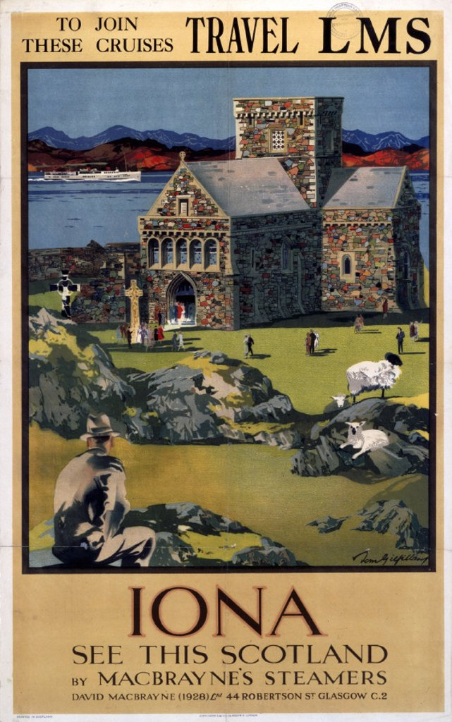 Stock Photo: 1895-1504 ´Iona', LMS poster, 1923-1947.