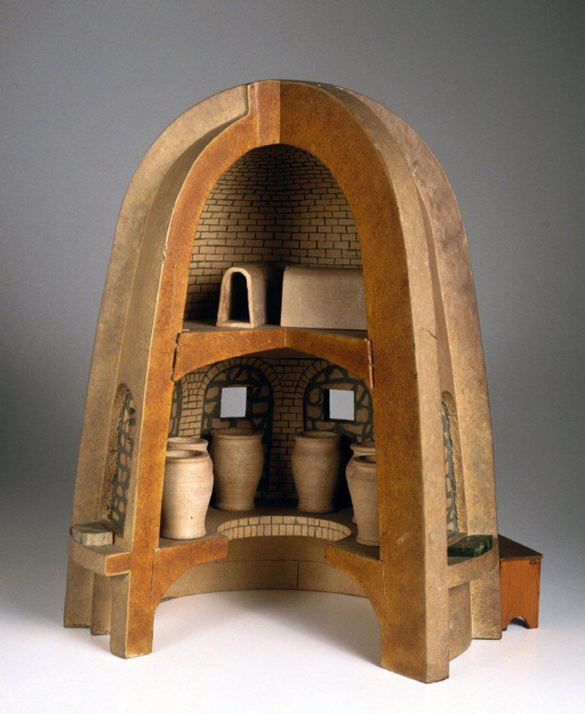 Glassmaking furnace, c 1500. : Stock Photo