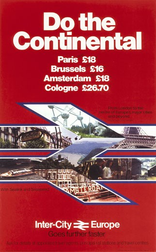 ´Do the Continental´, BR poster, c 1980s. : Stock Photo