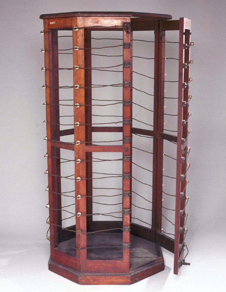 Electrotherapeutic machine, 1890-1910. : Stock Photo