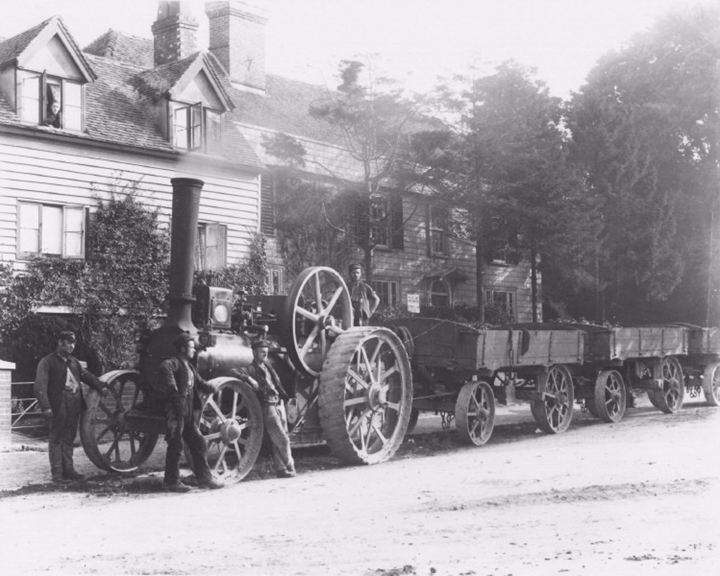 Stock Photo: 1895-15565 Aveling and Porter steam traction engine, c 1890.