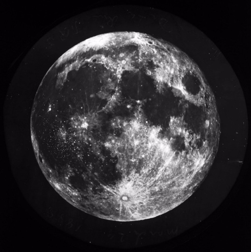 Full Moon, 1858-1868. : Stock Photo