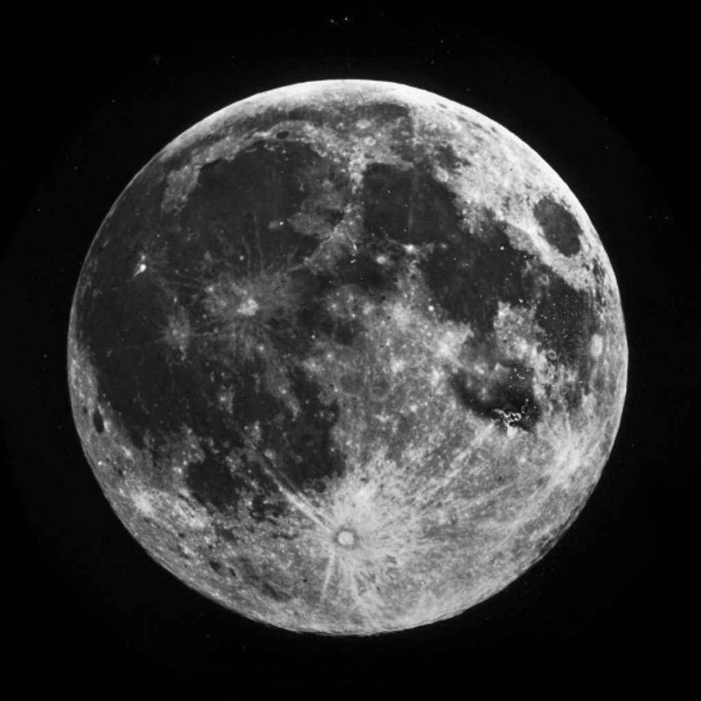 Stock Photo: 1895-15668 Full Moon, 1858-1868.