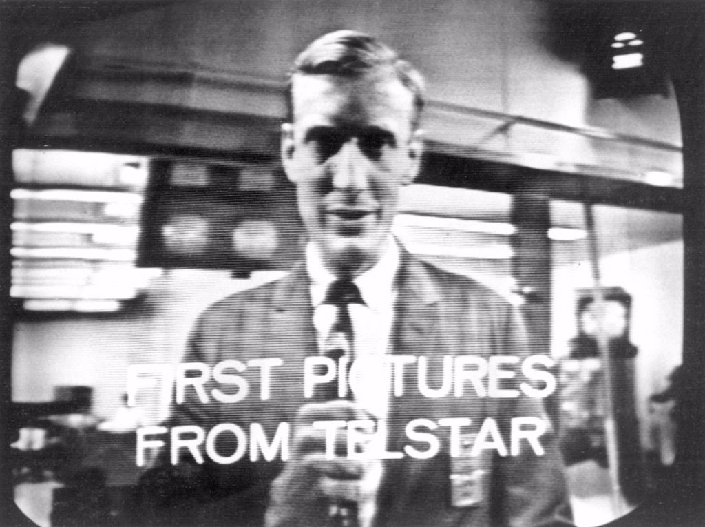 Stock Photo: 1895-15832 The first transatlantic TV picture from space, 1962.
