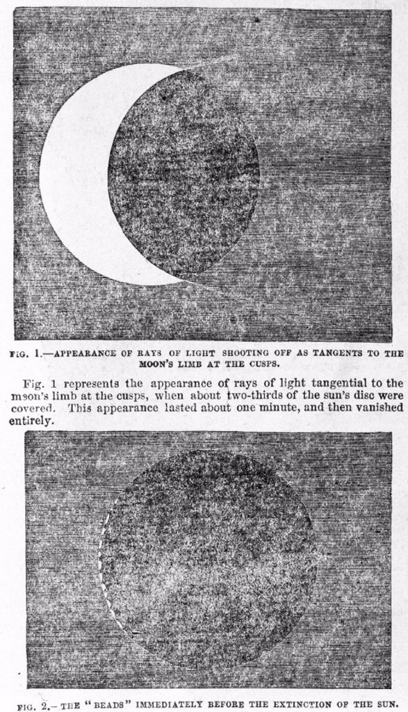 Stock Photo: 1895-15923 Solar eclipse, 28 July 1851.