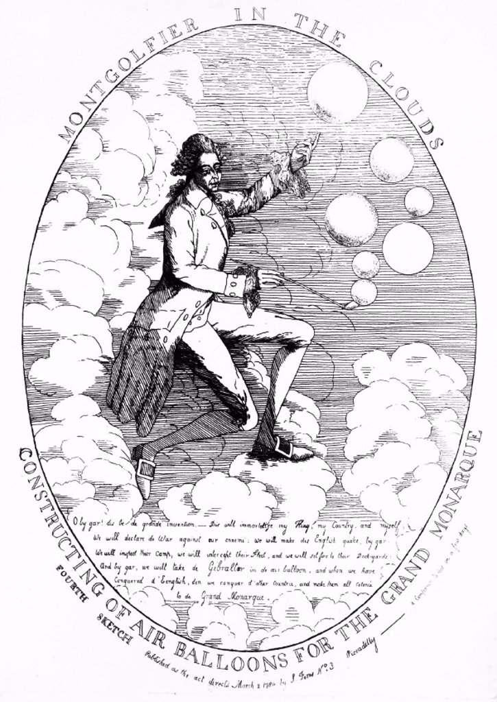 One of the Montgolfier brothers, French aeronautical inventors, 1784. : Stock Photo