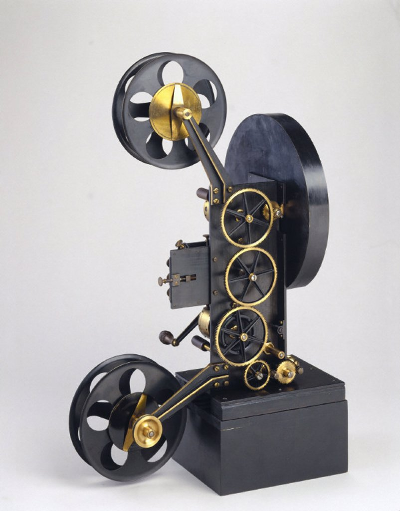 Original Lee and Turner three-colour projector, 1902. : Stock Photo