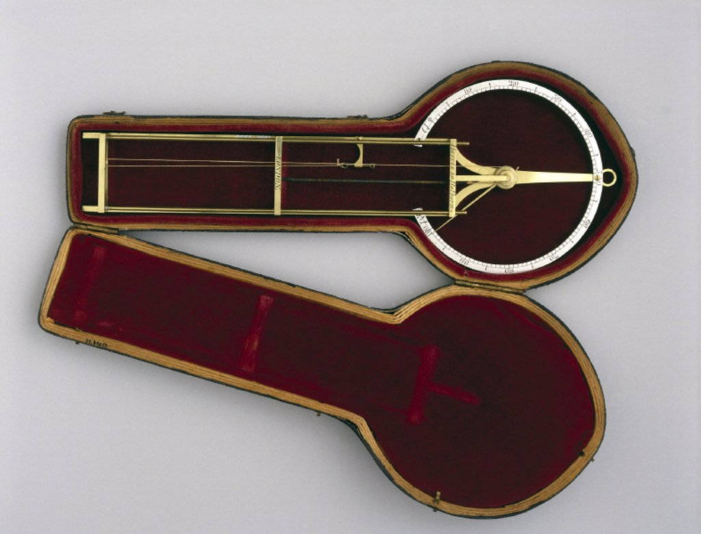 De Saussure hair hygrometer, 1801-1830. : Stock Photo