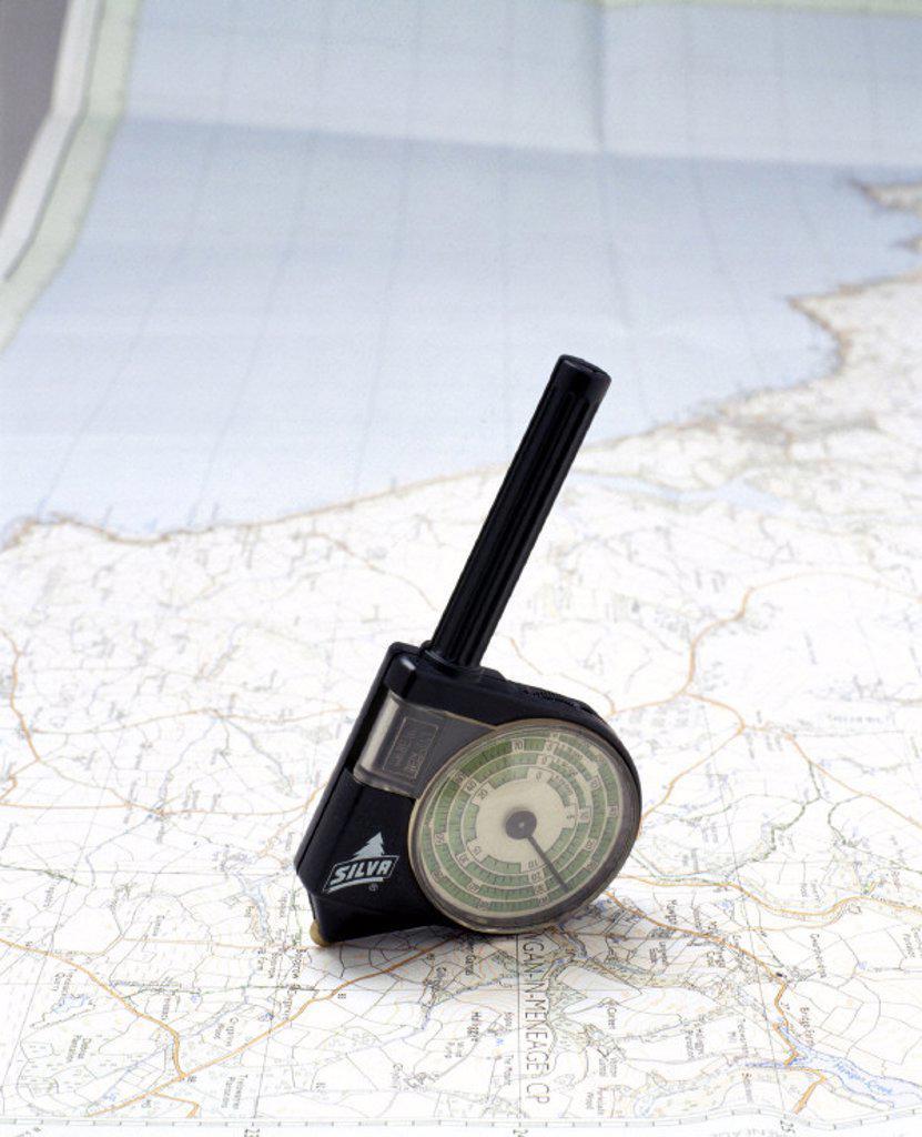 Silva Combi 2 map measurer, c 1989. : Stock Photo