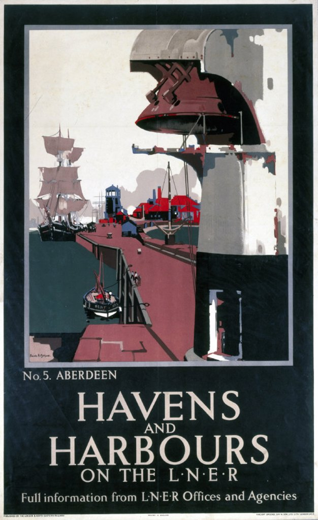 ´Havens and Harbours', LNER poster, 1931. : Stock Photo
