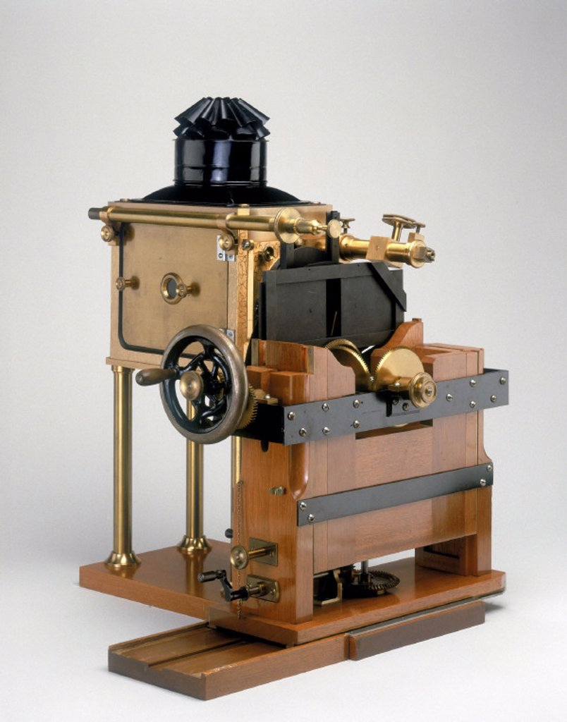 Stock Photo: 1895-17206 Muybridge´s Zoopraxiscope, 1880.