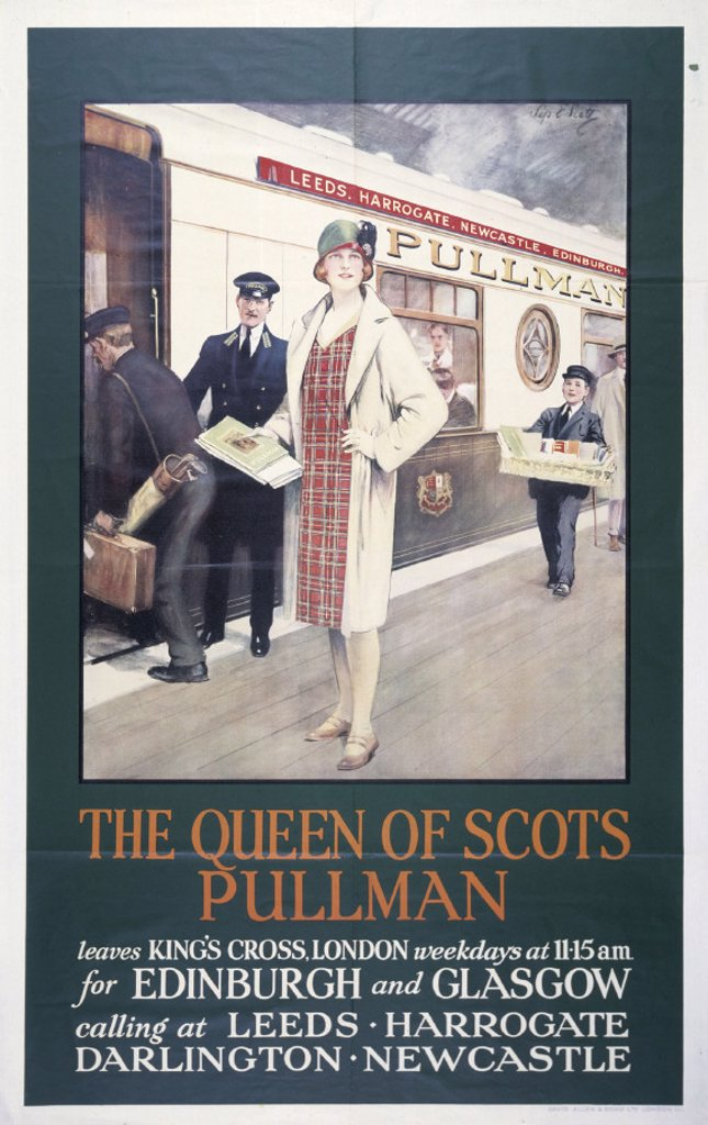 'The Queen of Scots Pullman', Pullman Company poster, 1923-1947. : Stock Photo