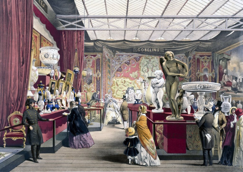 French No 3 stand at the Great Exhibition, Crystal Palace, London, 1851. : Stock Photo