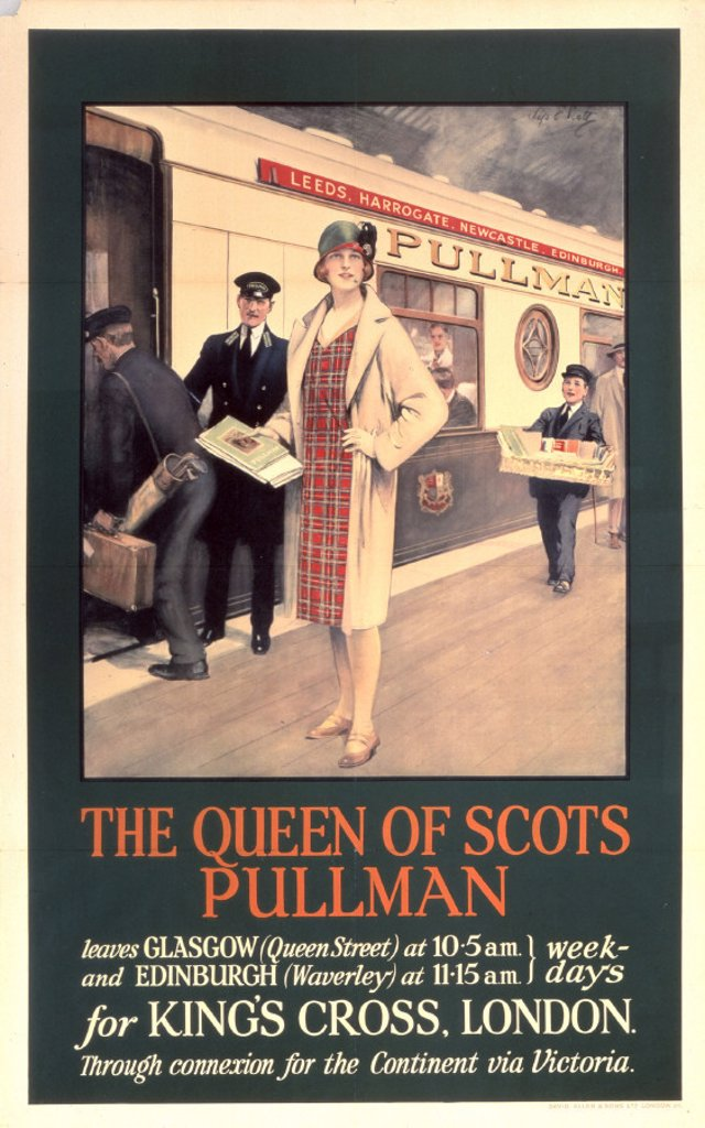 'The Queen of Scots', Pullman Company  poster, 1923-1947. : Stock Photo
