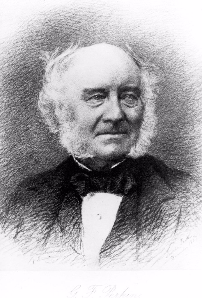 Stock Photo: 1895-18314 G F Perkin, relative of Sir William Henry Perkin, 1867.