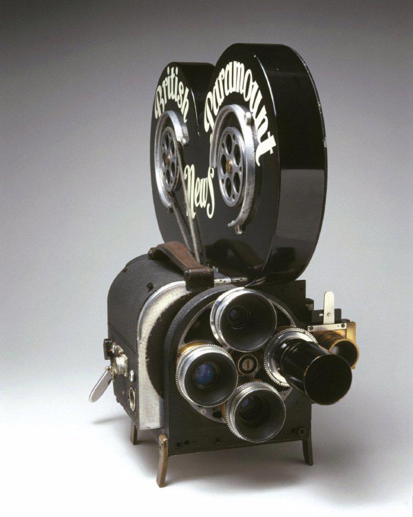 Wall 35mm cine camera, c 1948. : Stock Photo