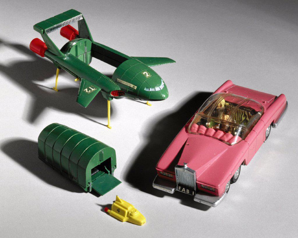 ´Thunderbirds´ Dinky Toys, 1960s. : Stock Photo
