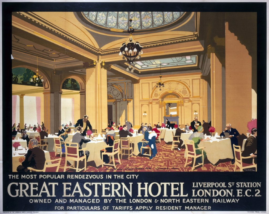 Stock Photo: 1895-19338 Great Eastern Hotel, LNER poster, 1923-1947.