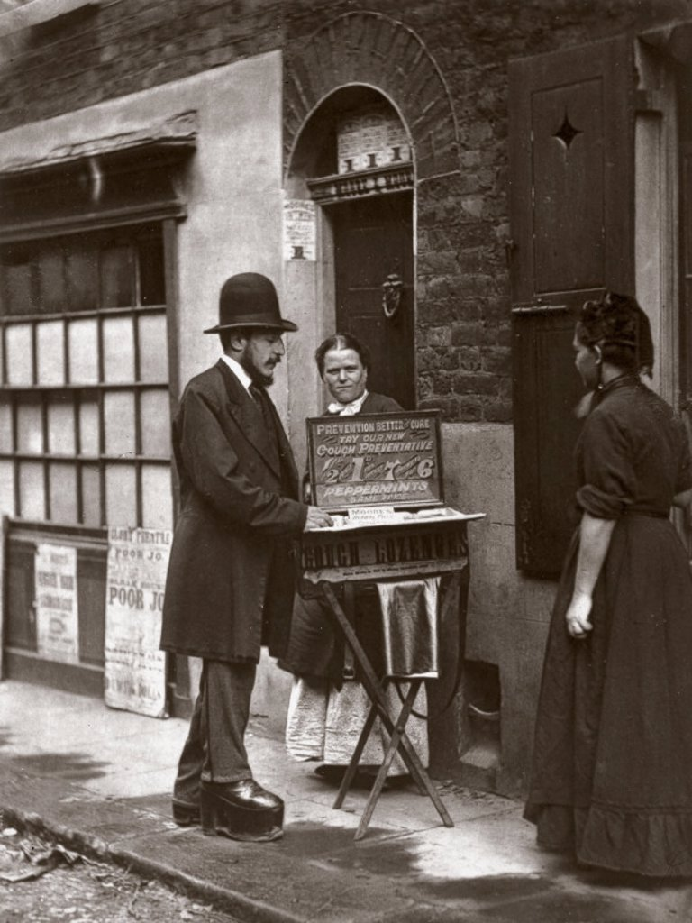 Stock Photo: 1895-19665 ´Street Doctor´, 1877.