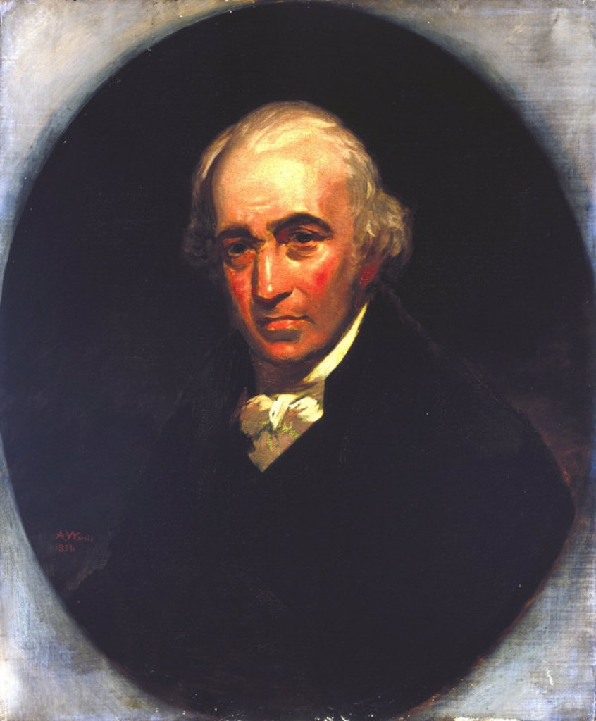 Stock Photo: 1895-19692 James Watt, Scottish engineer, 1801.