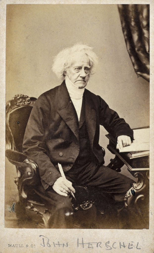John Herschel, English astronomer and scientist, 1866-1871. : Stock Photo