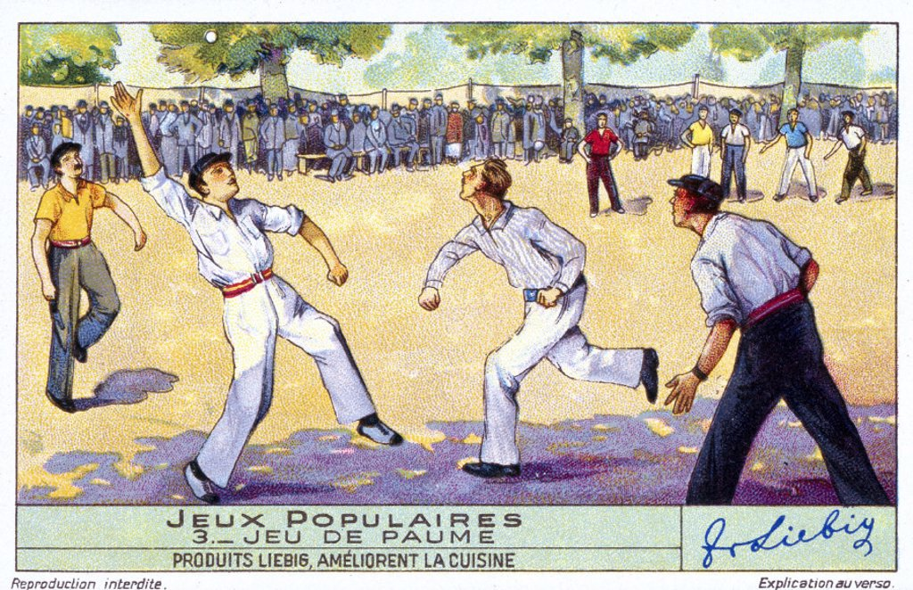 Stock Photo: 1895-20044 A game of handball, early 20th century.