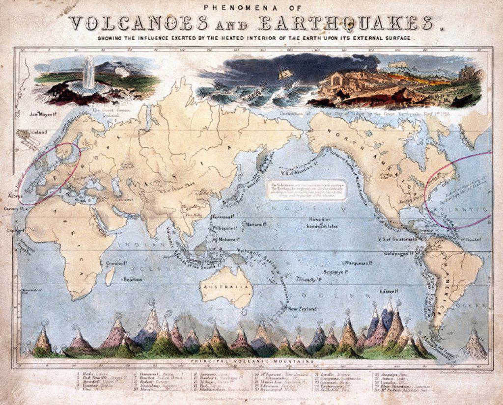 Stock Photo: 1895-20058 ´Phenomena of Volcanoes and Earthquakes´, 1852.