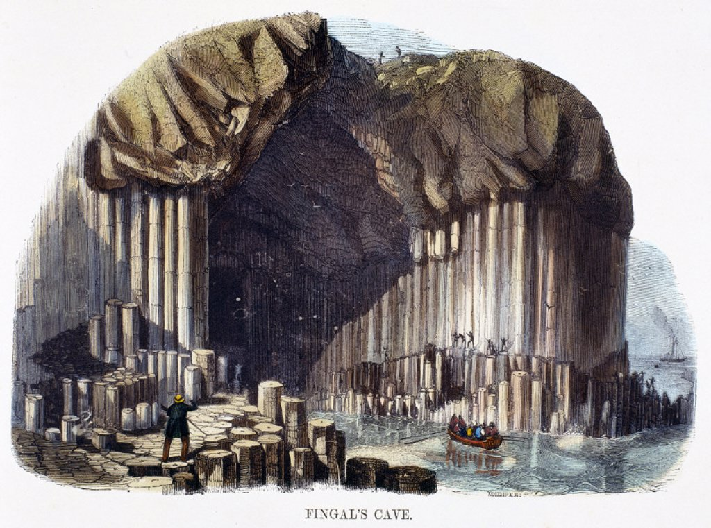 ´Fingal´s Cave´, 1849. : Stock Photo