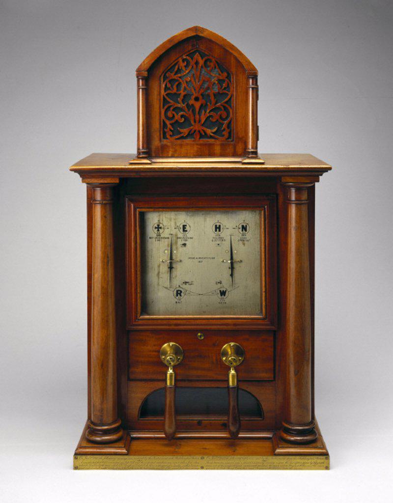Cooke and Wheatstone two-needle telegraph, 1844. : Stock Photo