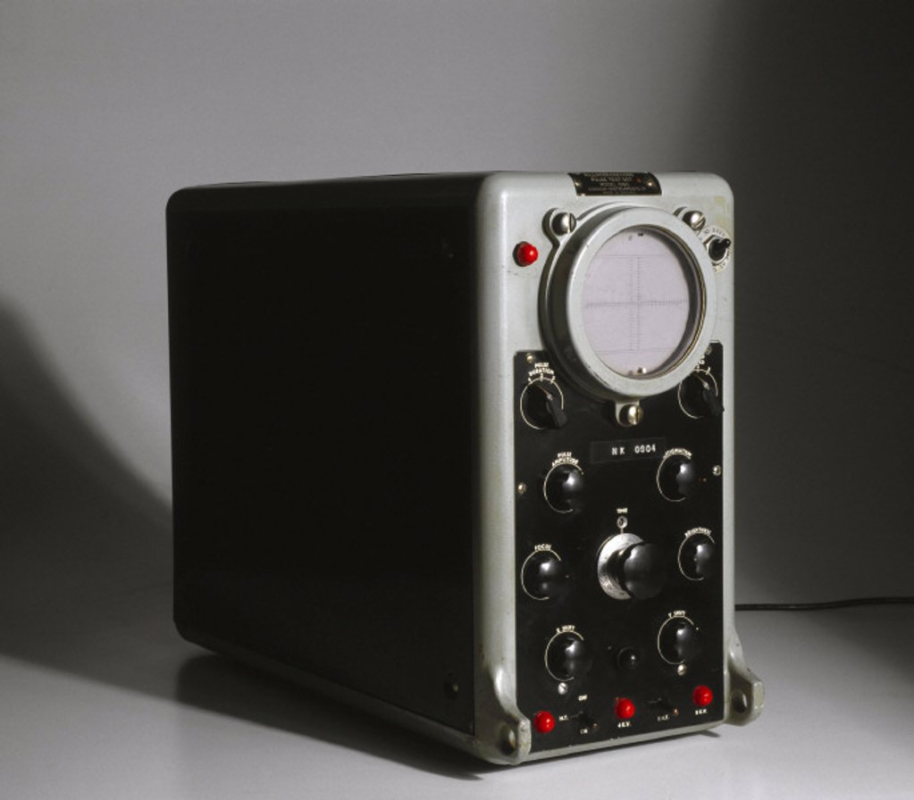 Oscilloscope, c 1960s. : Stock Photo