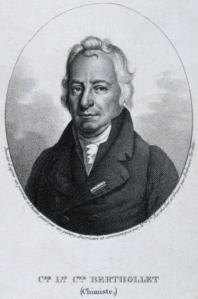 Stock Photo: 1895-20539 Claude-Louis Berthollet, chemist, c 1810.