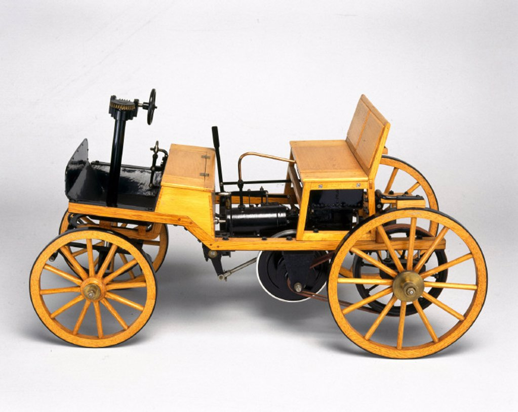 Siegfried Marcus petrol motor car, 1875. : Stock Photo
