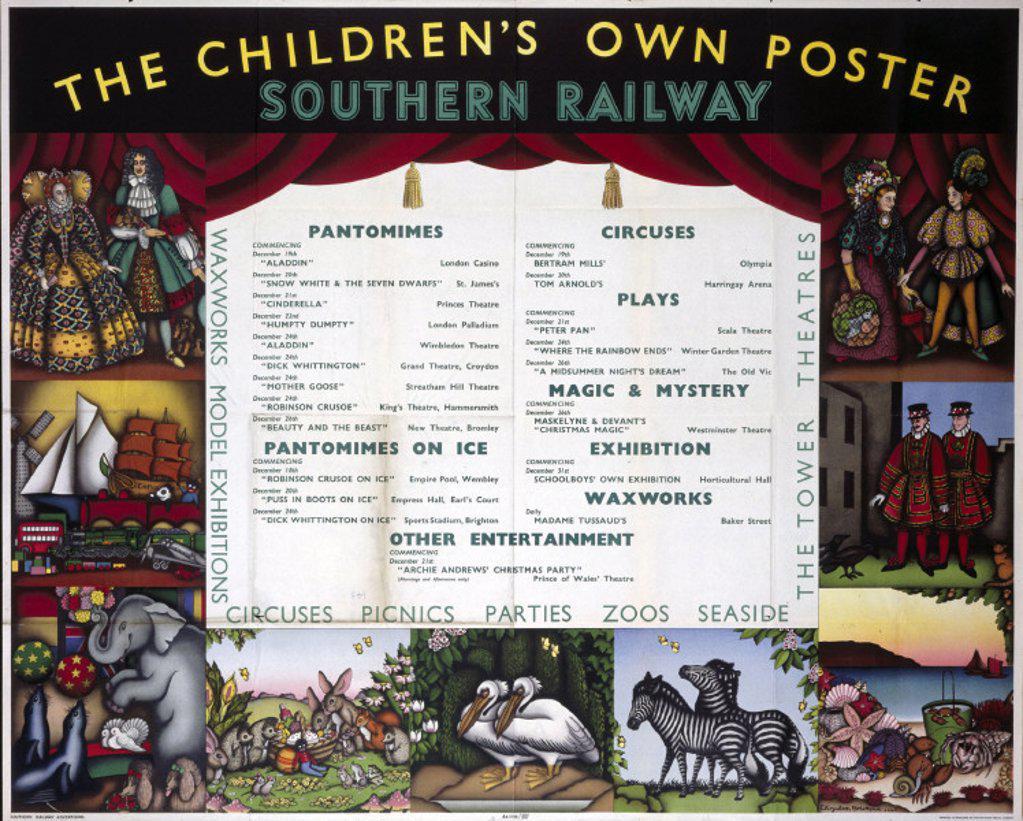 Stock Photo: 1895-2093 ´The Children´s Own Poster´, SR poster, 1947.
