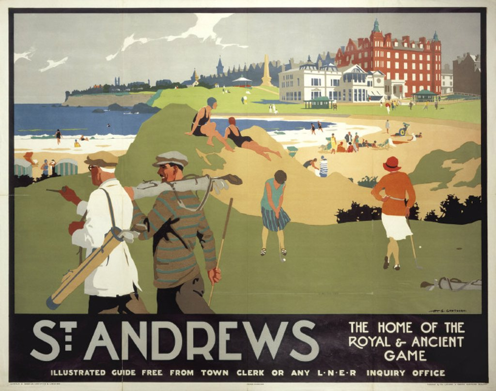 ´St Andrews', LNER poster, 1920s. : Stock Photo