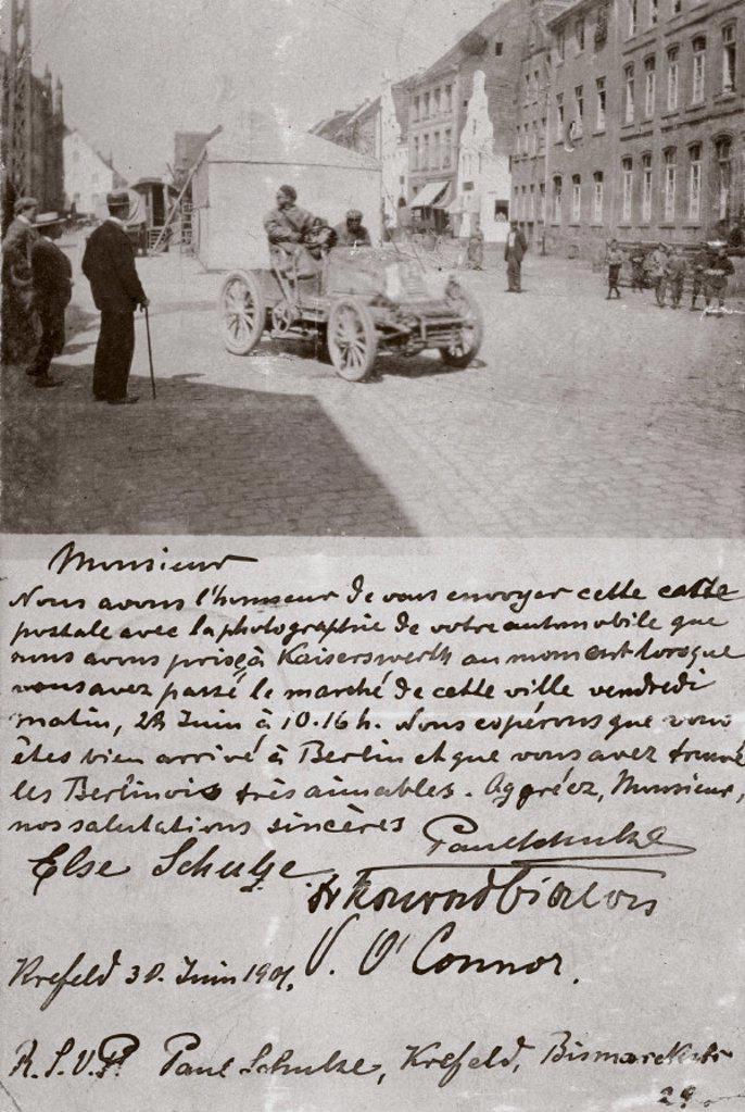 Batefield Control, the Paris-Berlin race, 1901. : Stock Photo