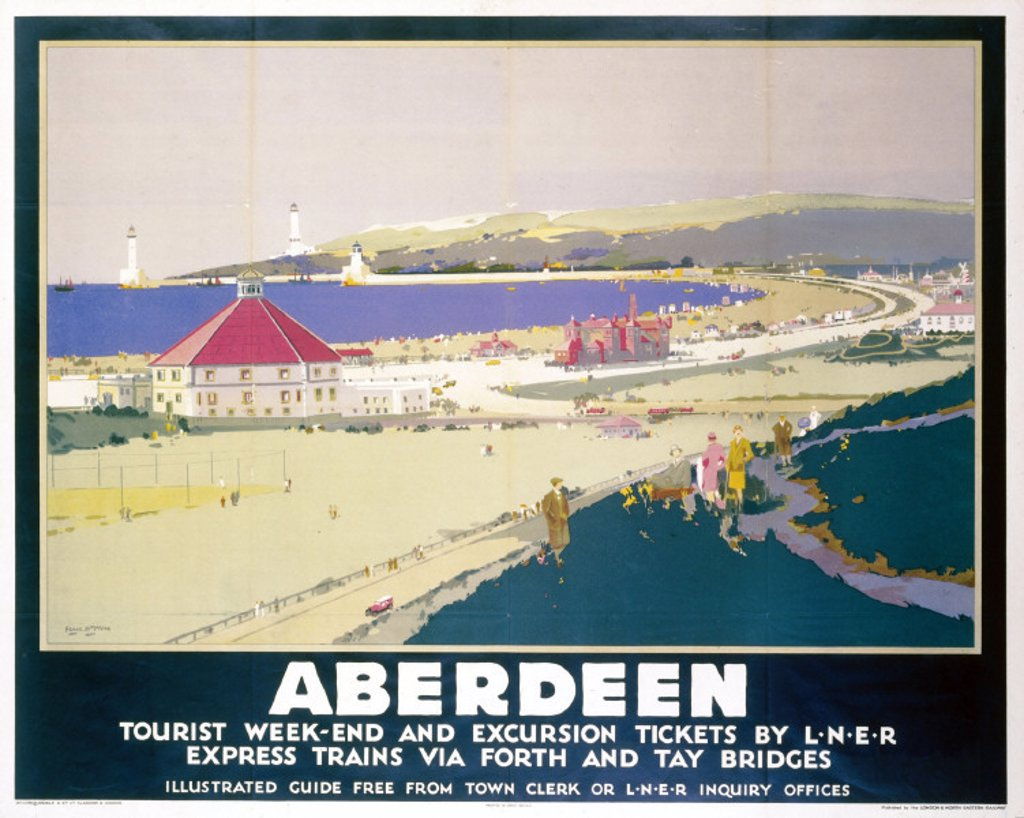 Stock Photo: 1895-2135 ´Aberdeen', LNER poster, 1923-1947.