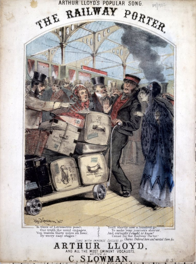 Stock Photo: 1895-21430 ´The Railway Porter´, 1870.