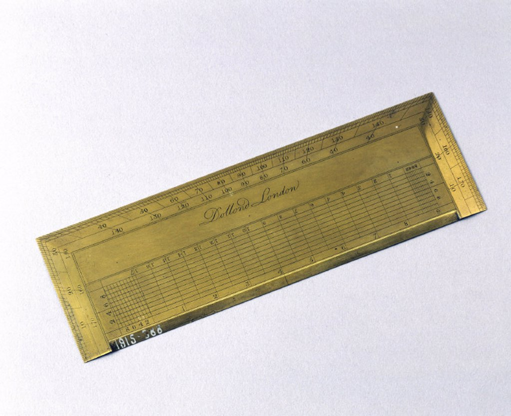 Rectangular protractor, late 18th century. : Stock Photo