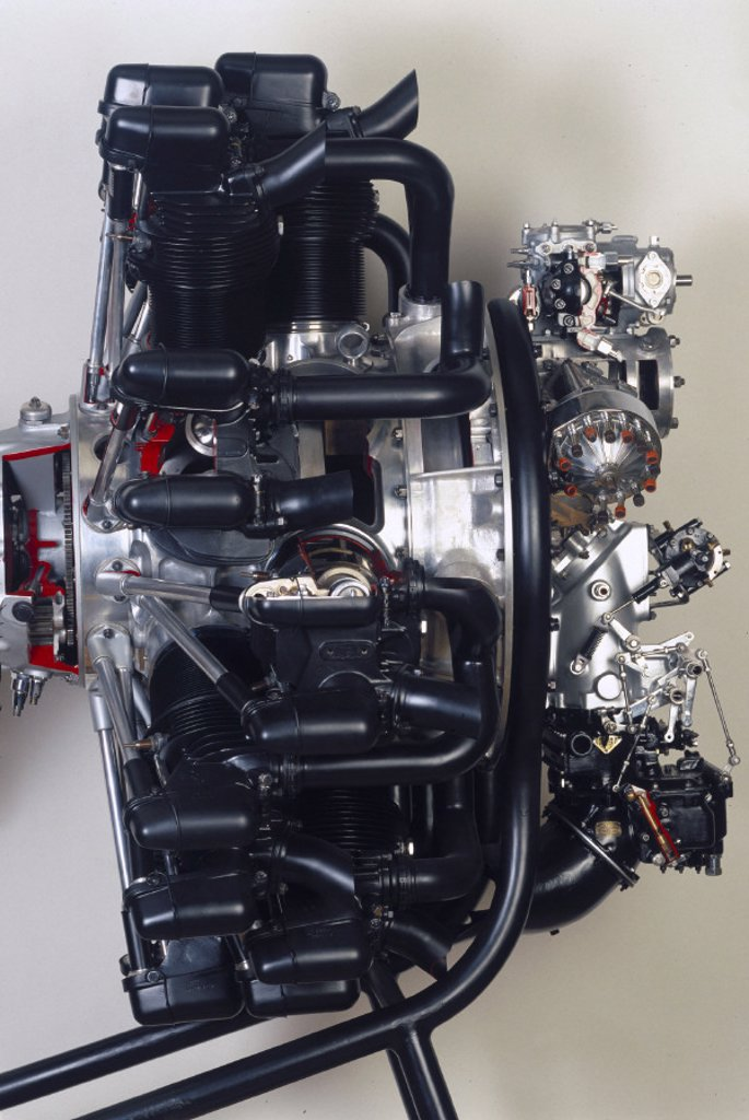 The Armstrong Siddeley 840 hp ´Tiger´ aero engine, 1931. : Stock Photo