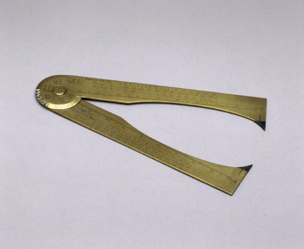 Gunner´s callipers, early 18th century. : Stock Photo