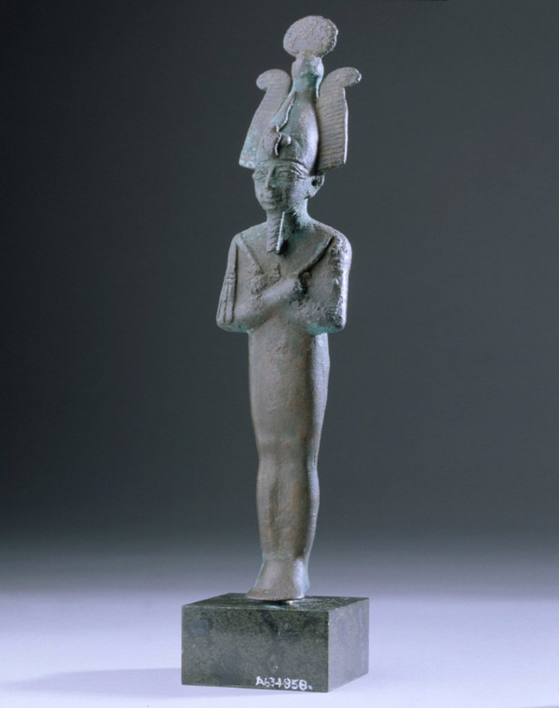 Stock Photo: 1895-21895 Bronze figurine of Osiris, Egyptian, 1000 BC-400 BC.