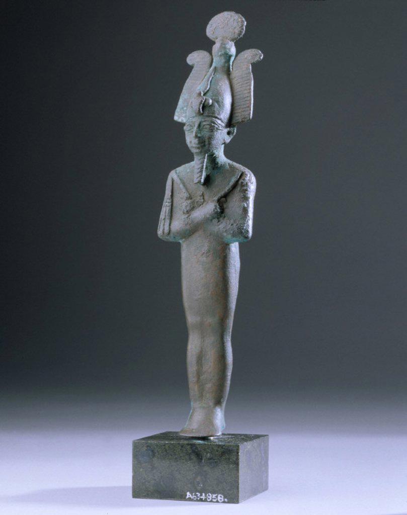 Bronze figurine of Osiris, Egyptian, 1000 BC-400 BC. : Stock Photo